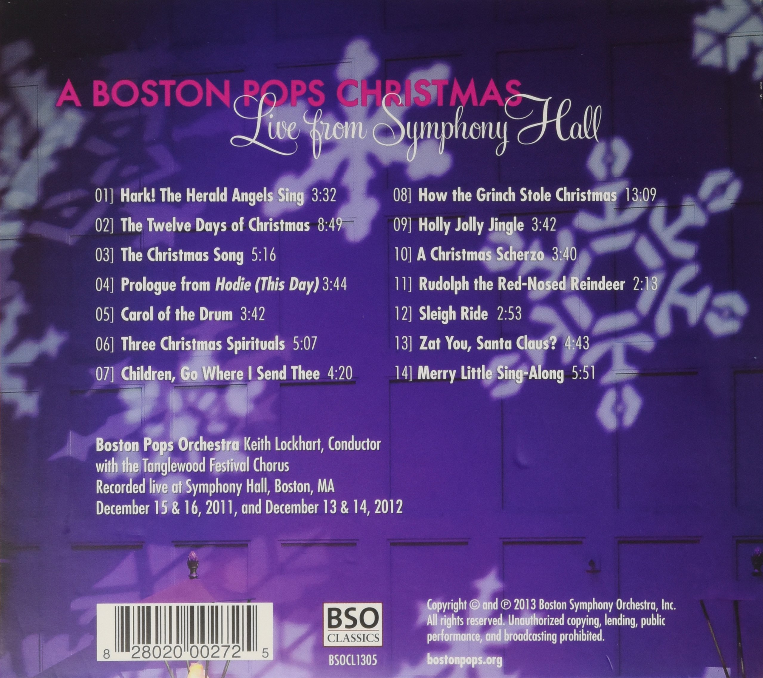 A Boston Pops Christmas: Live From Symphony Hall by BOSTON SYMPHONY ORCHESTRA INC.