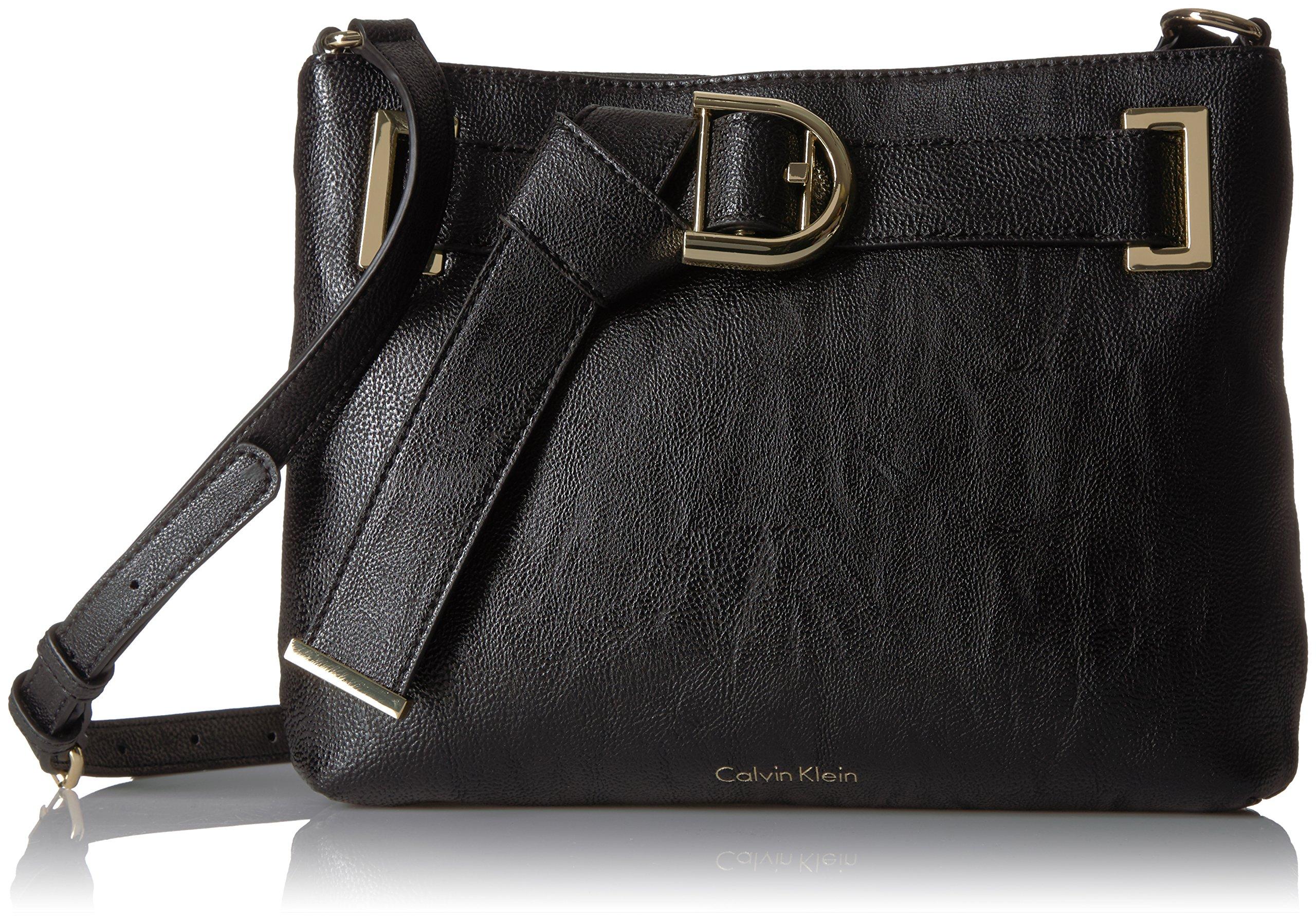 Calvin Klein Nola Belted Top Zip Novelty Crossbody