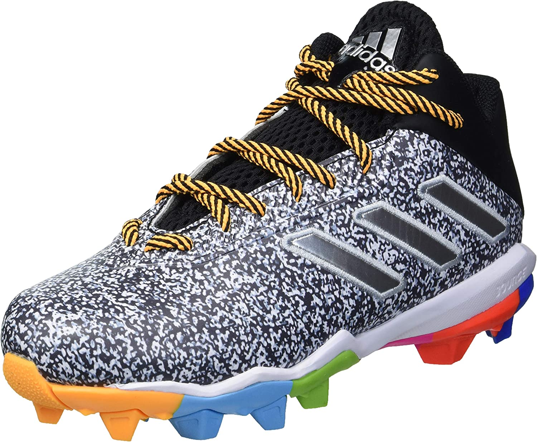 adidas Football Shoe, Black/Silver Metallic/White, 12 US Unisex Big Kid