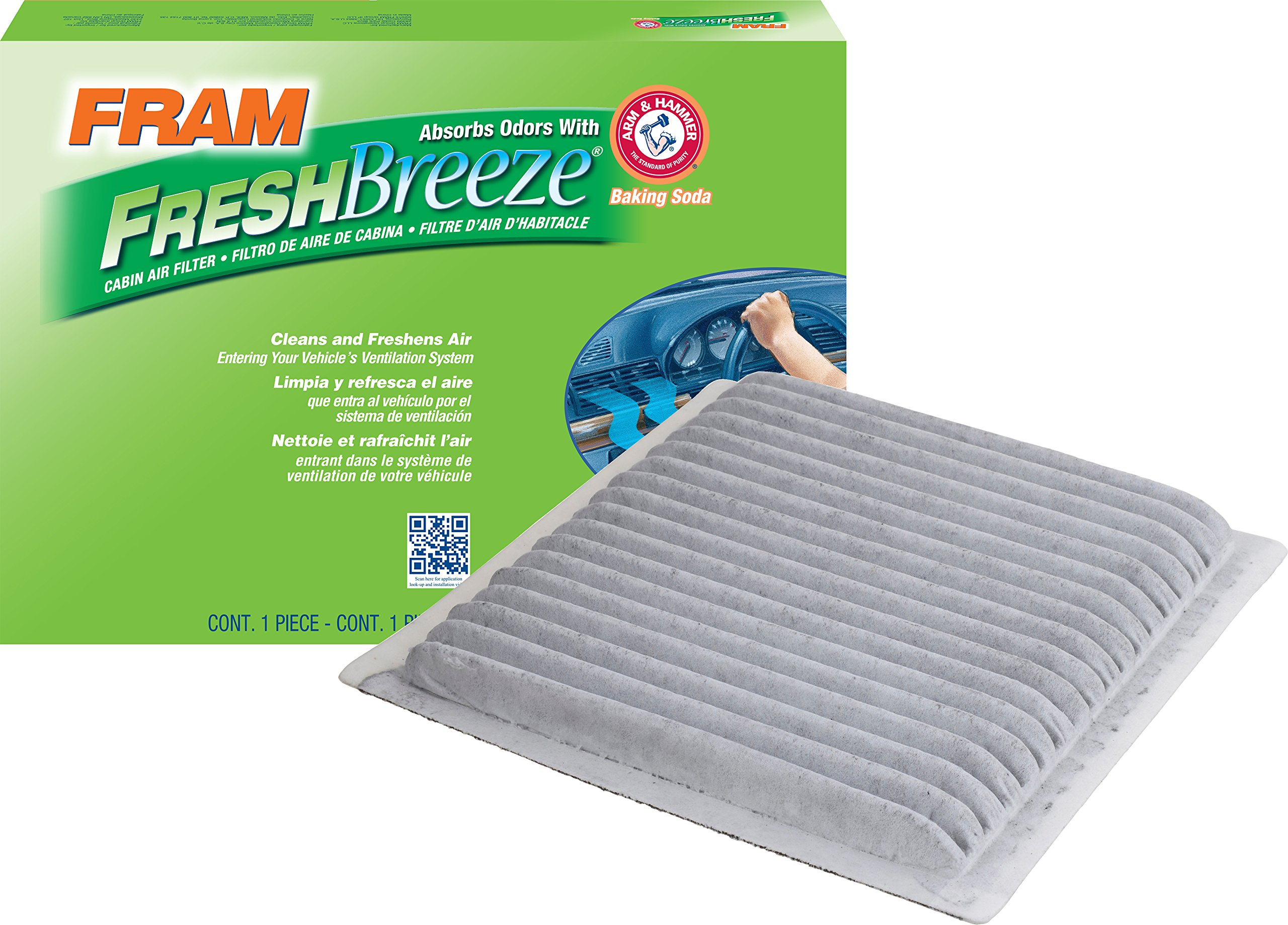 FRAM CF10547 Fresh Breeze Cabin Air Filter with Arm & Hammer