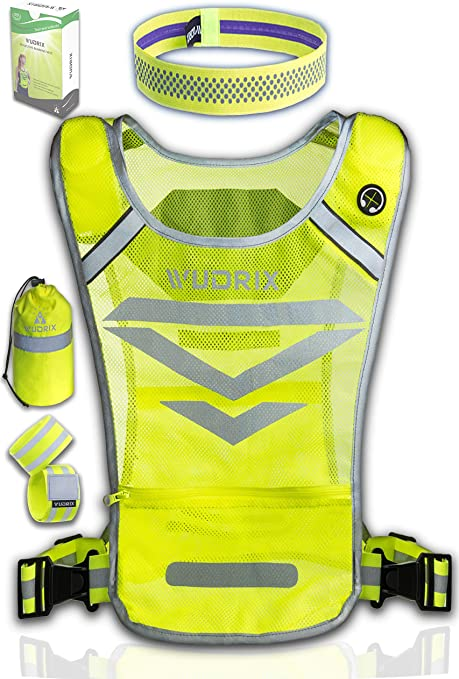 SIFE High Visibility Adjustable Reflective Safety Vest Lightweight 2 Pack Elastic Safety for Running Jogging Walking,Cycling Fits Over Outdoor Clothing Motorcycle Jacket Outdoor Gear