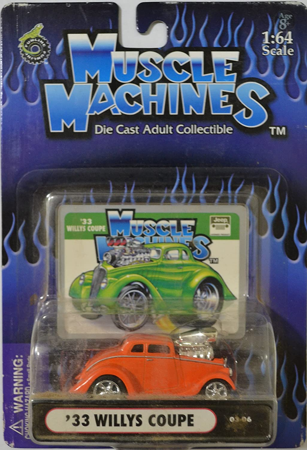 Orange 33 Willys Coupe American Muscle Machines Series 1:64 Scale Collectible Die Cast Model Car CAT