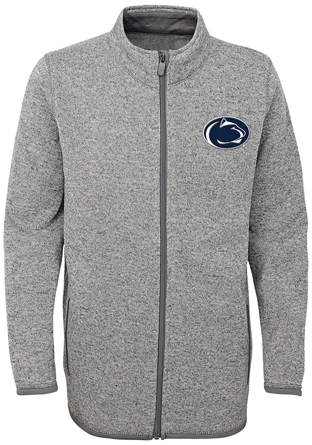 Heather Grey XLarge NCAA Mens Lima Full Zip Fleece Jacket
