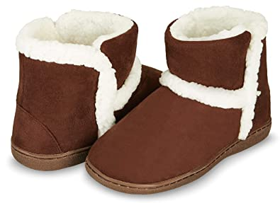 9aa08244446 Floopi Womens Indoor Outdoor Bootie Slipper - Sherpa Fur Lined Clog  W Memory Foam (