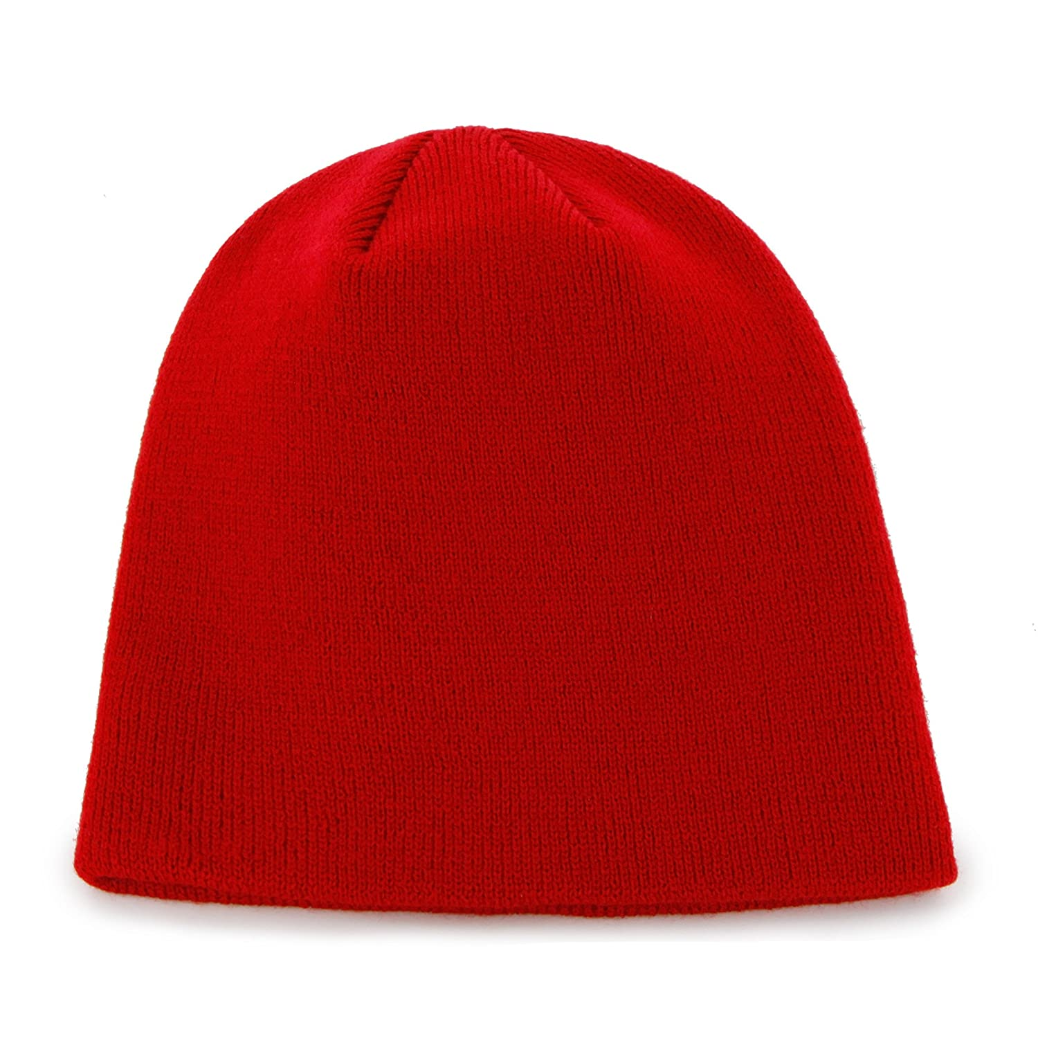 fc582c93e Amazon.com : NHL Detroit Red Wings Men's Knit Hat, Red, One Size : Sports  Fan Beanies : Clothing