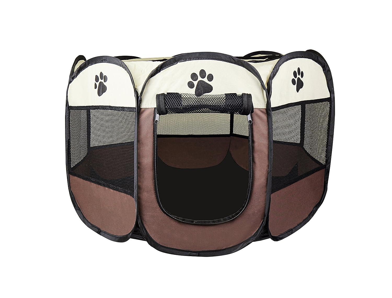 Cosy Life® Parc de jeu pour chiens, chiots, chats, 81 x 81 x 56 cm (medium)