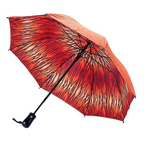 Galleria auto plegable de apertura y cierre paraguas - Tiger Double Cover