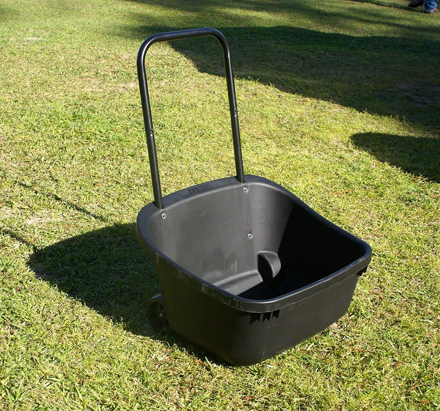 Black and Orange Riverstone Industries GEN-C42-OR-C Compost Tumbler with Cart