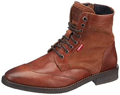 a7f691f928dc2 Levi s Whitfield 228738-700-27 Men Ankle Boots Medium Brown Brown ...