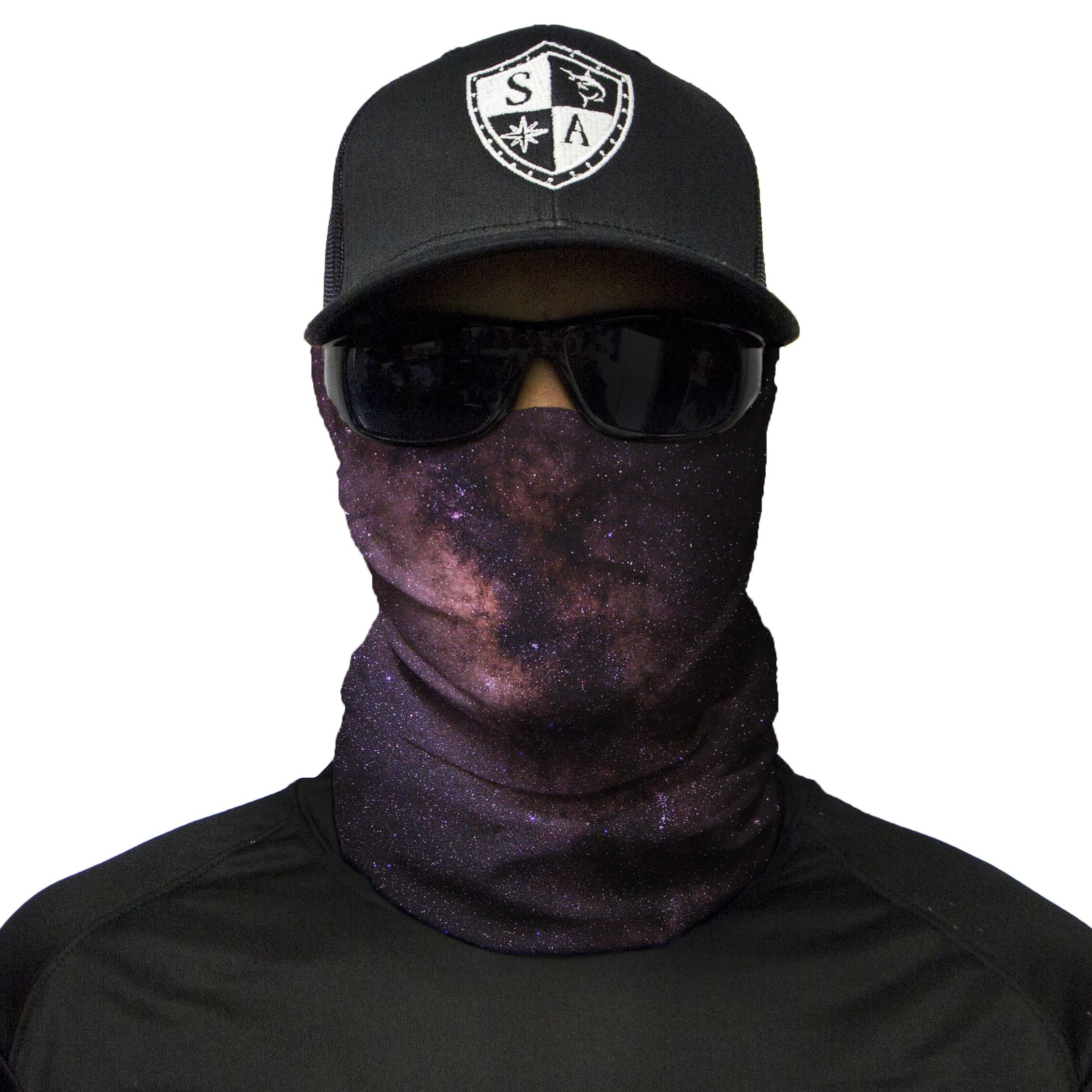S A 1 Face Shield Cloth Face Shield, Face Shields for Men and Face Shields for Women – UV Face Shield by S A (Image #1)