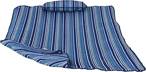Sunnydaze Cotton Quilted Hammock Pad and Pillow Set Only – Durable Outdoor Rope Hammock Accessories – Replacement Hammock Pad – Breakwater Stripe