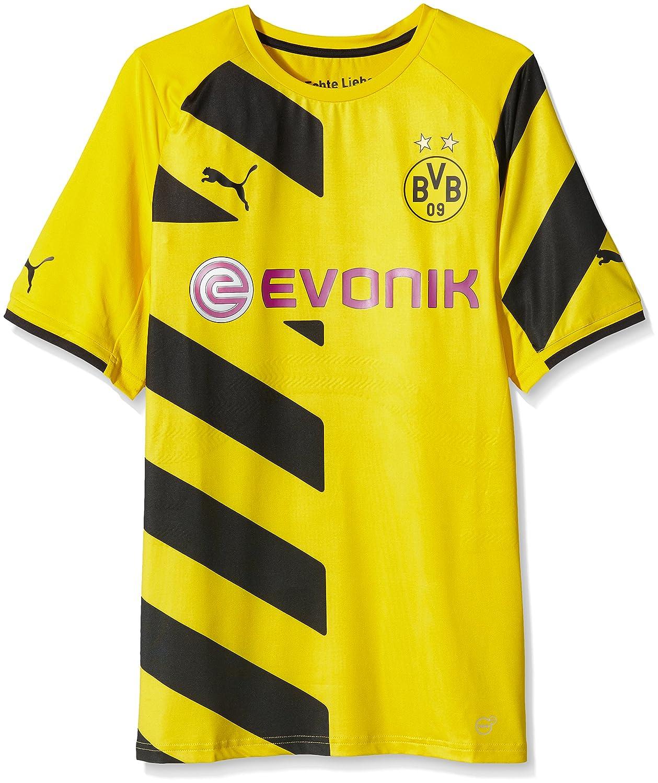 PUMA Herren Trikot BVB Home Shirt ACTV Authentic with Packaging and Sponsor Logo
