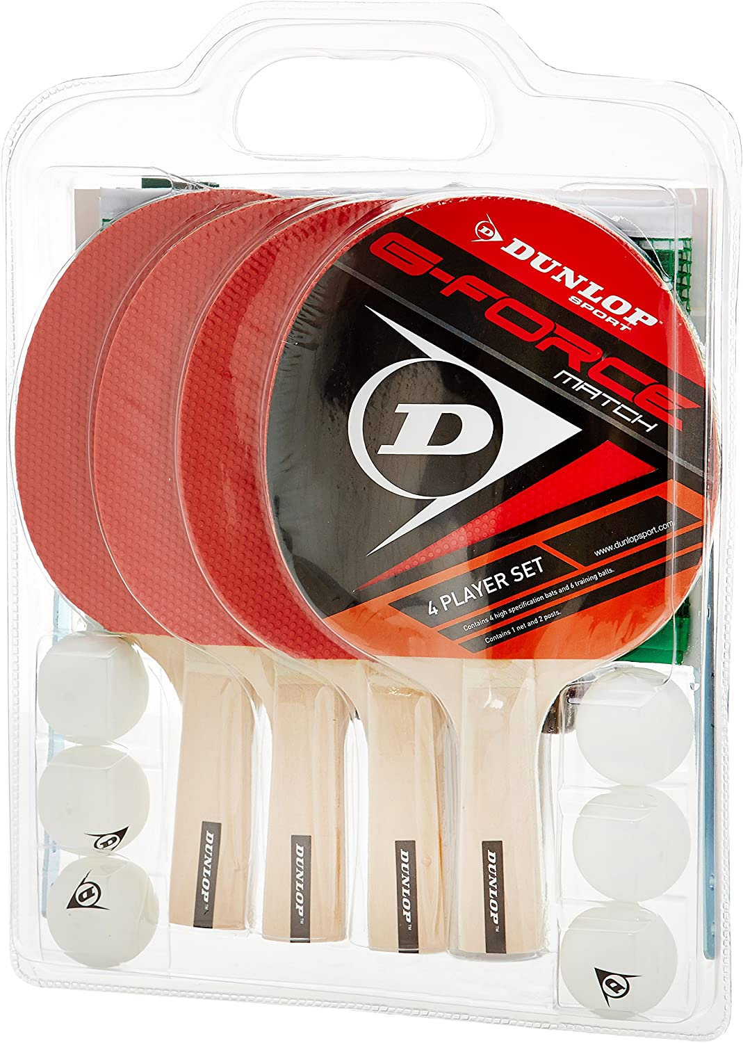 DUNLOP AC G-Force Match 4 Player Set - Kit de Ping Pong: Amazon.es ...