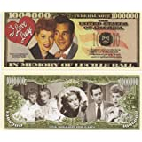 """Lucille Ball """"I Love Lucy"""" $Million Dollar$ Novelty Bill Collectible"""