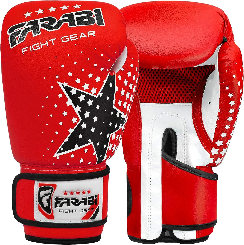 6oz Boxing Gloves Muay Thai Training Mitts Junior Kick Boxing MMA Gloves