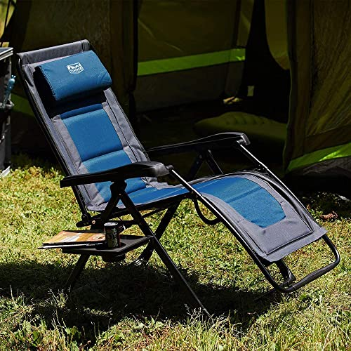 Timber Ridge Zero Gravity Chair Oversized Recliner Folding Patio Lounge Chair 350lbs Capacity Adjustable Lawn Chair