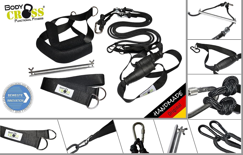 PHYSIO EXPERT Schlingentrainer   Professioneller Sling Trainer für Fitnessstudios und Physiotherapeuten   AUSGEZEICHNET mit dem InBuB Siegel   Übungsposter, Trainingsplan und Spacer   Made in Germany