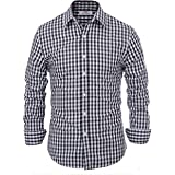 dde0b344 Paul Jones Casual Plaid Dress Shirts for Men Checkered Button Down Shirt  CL6299