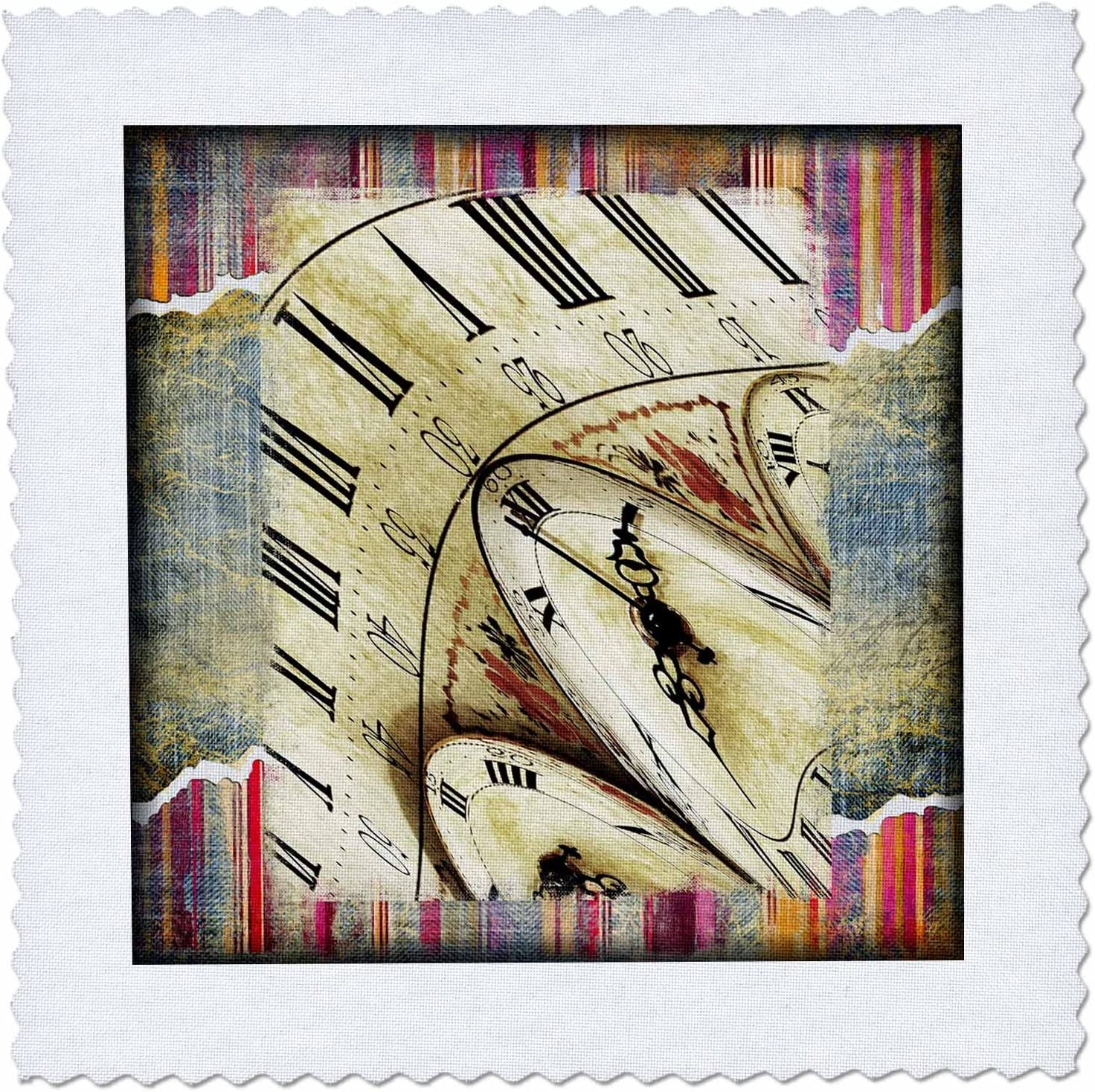 10 by 10-Inch 3dRose qs/_110235/_1 Vintage Art Alice in Wonderland-Quilt Square