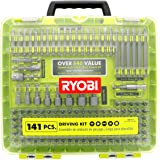 Ryobi A961412 141 Piece Drilling / Driving Bit Set with Carrying Case, Nut Drivers, and Socket Adaptors