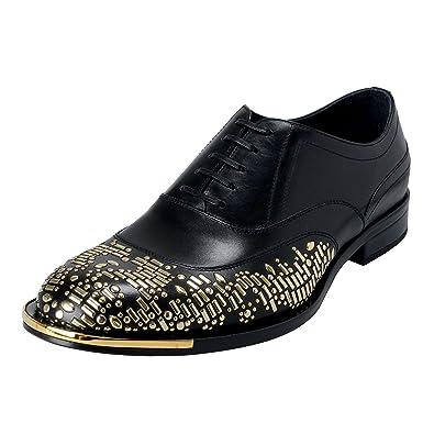 d6a84ae0e6 Amazon.com: Versace Men's Black Beaded Lace Up Oxfords Shoes US 8 IT ...