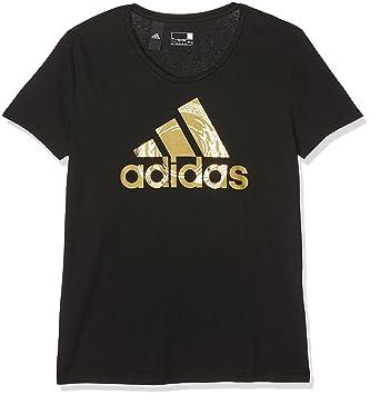 21cf80f9cc03 adidas Women s Foil Logo Short Sleeve Top