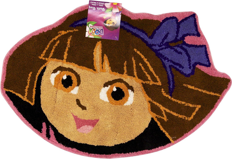 Amazon Com Nickelodeon Dora The Explorer Area Rug Picnic Bath Mat Home Kitchen