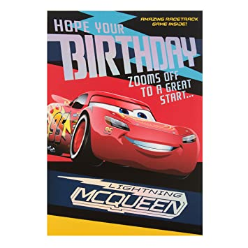 Hallmark Cars 3 Birthday CardquotRace Trackquot