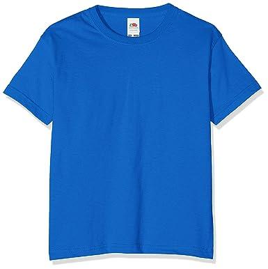 5fec4c855b1c 3 Pack Fruit of the Loom Kids Children's Boys Valueweight T-Shirt Royal  Blue 1