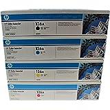 HP 126A CE310A CE311A CE312A CE313A 4-Color Toner Set for M175nw, M275, CP1025nw Printers