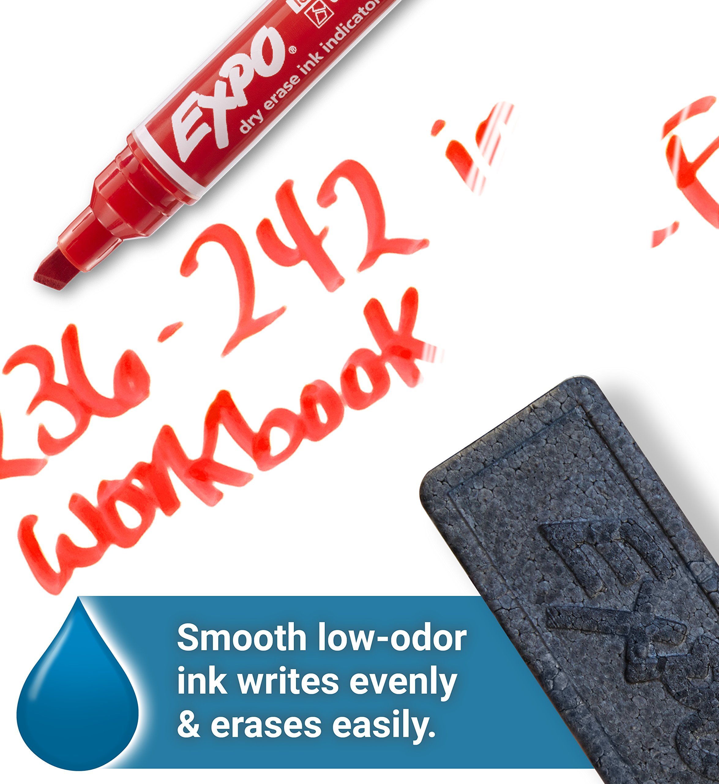 EXPO Dry Erase Markers with Ink Indicator, Chisel Tip, Assorted Colors, Box of 24 by Expo (Image #6)