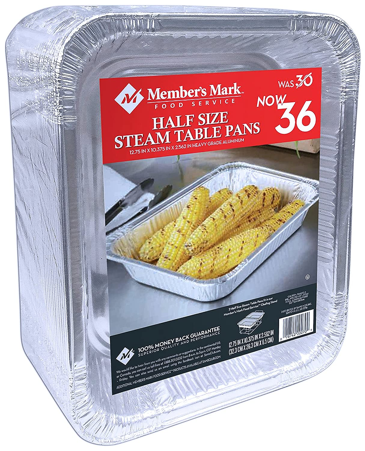 Daily Chef Aluminum Foil Steam Table Pans, Half Size (36ct.) DCS Deals 30-2