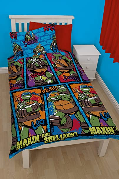 Juego de cama, diseño de las Tortugas Ninja: Amazon.es: Hogar