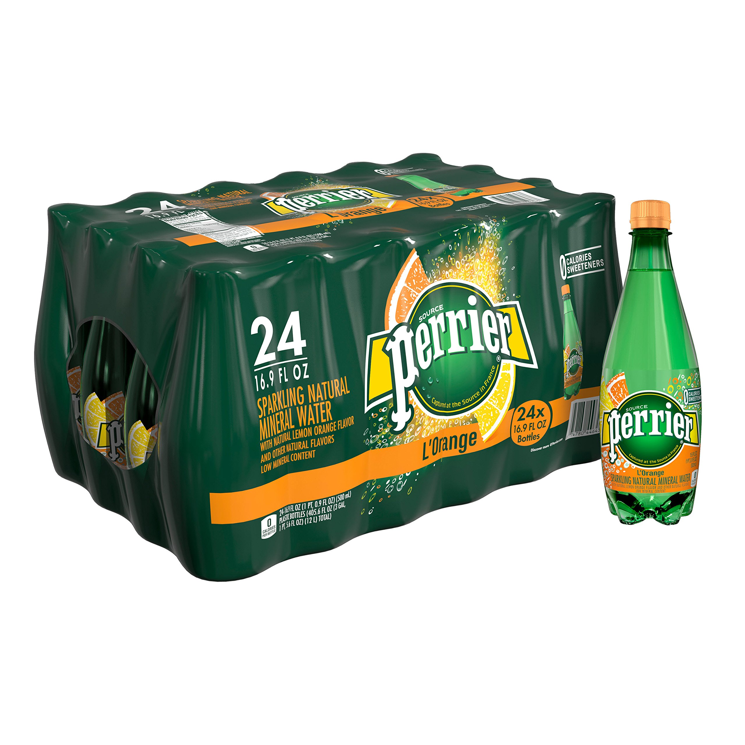 Perrier Carbonated Mineral Water, 16.9 Fl Oz. Plastic