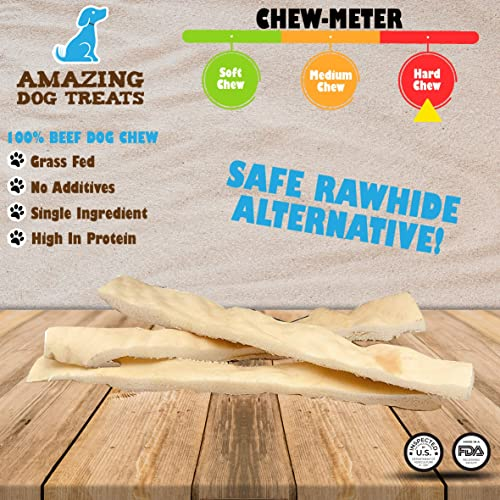 Sancho Lola s 12-Inch Bully Sticks for Dogs Made in USA – Farmed in USA Human-Grade Odor-Free Small-Batch Rawhide-Free Beef Pizzle Dog Chews