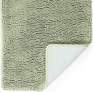 "Tafts Ultra Soft Luxury Bath Mat, Bathroom Rugs, Chenille Microfiber, Absorbent Non-Slip Machine Washable, Bathroom Decor, Super Plush Bath Mats for Bathroom, Shower & Tub, 27""x47"", Sage Green"