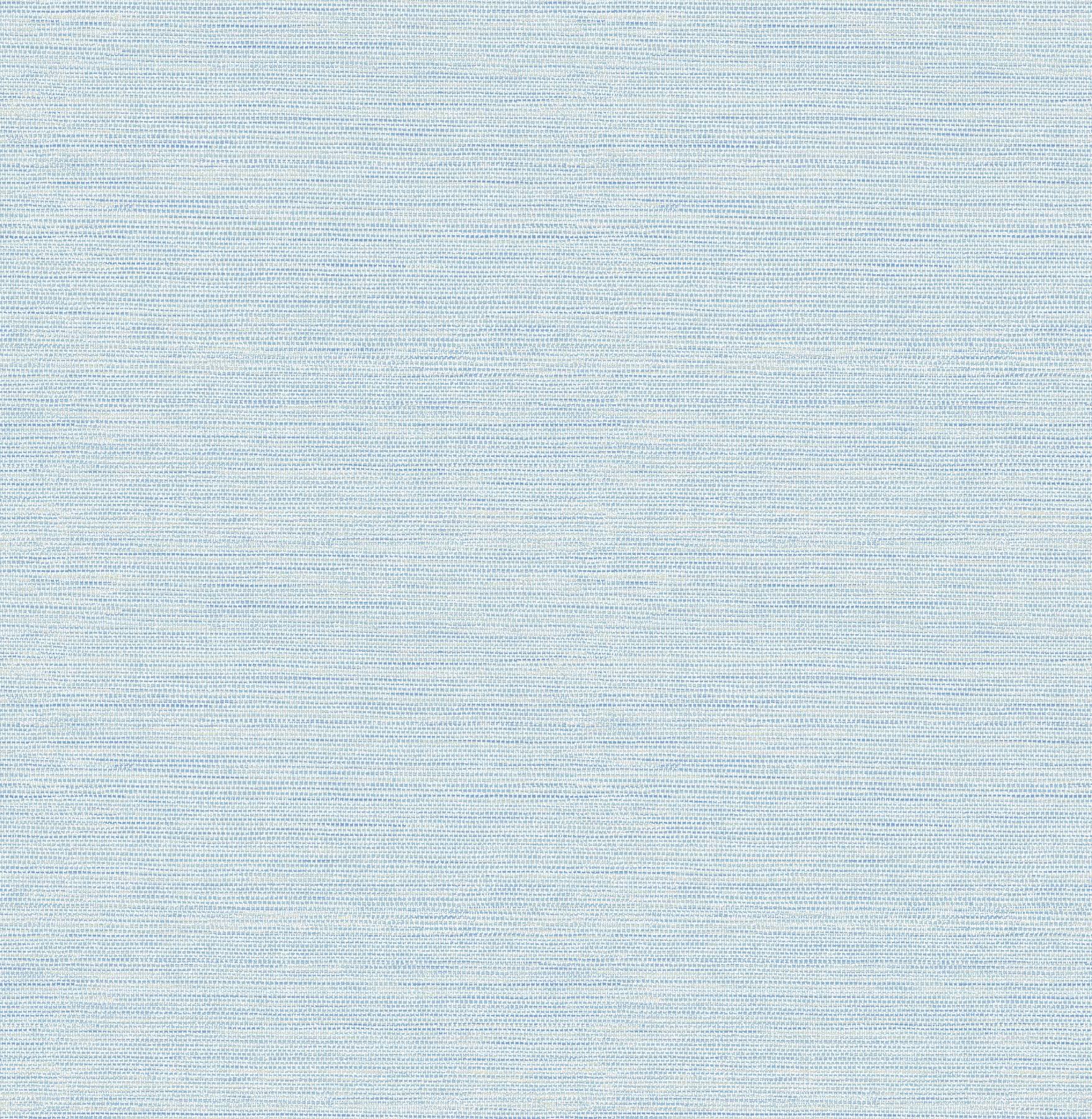 Warner 3117-24283 Agave Sky Blue Faux Grasscloth Wallpaper