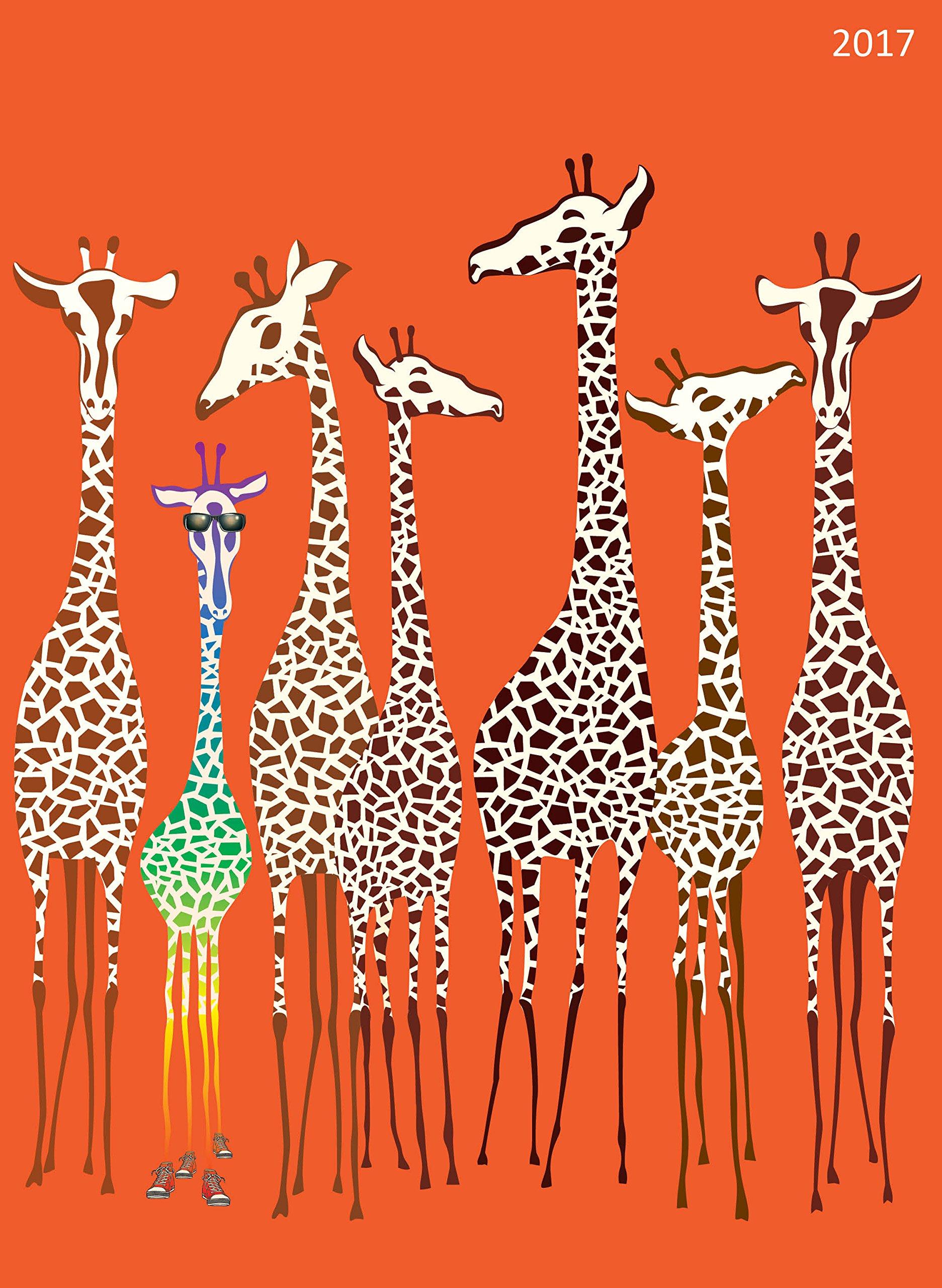 2017 Giraffe 12 Month Simplicity Planner
