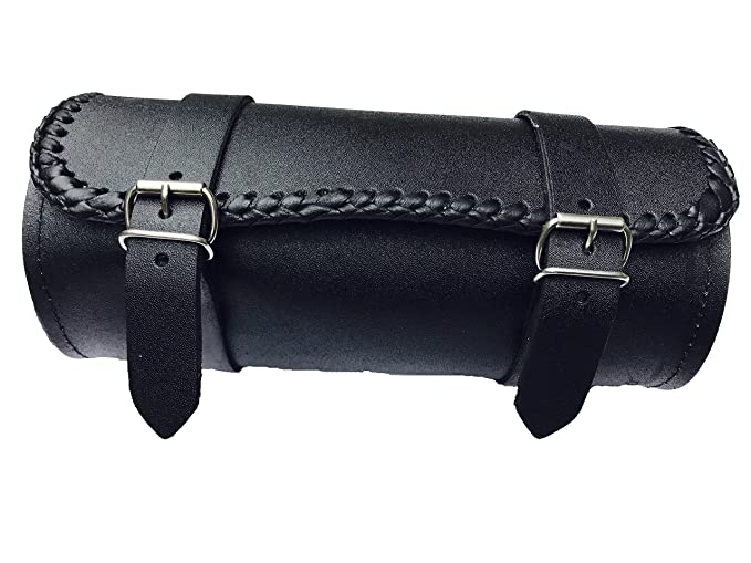 MOTORCYCLE MOTORBIKE REAL LEATHER TOOL ROLL SADDLE BAG ZN-TRB008