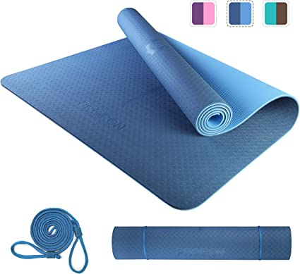 Non-Slip Yoga Mat Gym  Fitness Exercise Pilate Soft Foldable 183*61*1cm Thickess