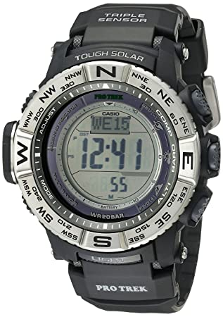 9c191cf93ee Casio Men s Pro Trek PRW-3500-1CR Solar Powered Atomic Resin Digital Watch