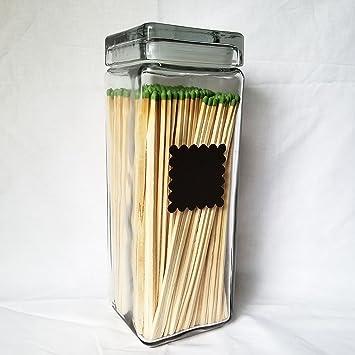 amazon com extra tall glass match holder vase for long fireplace rh amazon com decorative long fireplace matches long reach fireplace matches