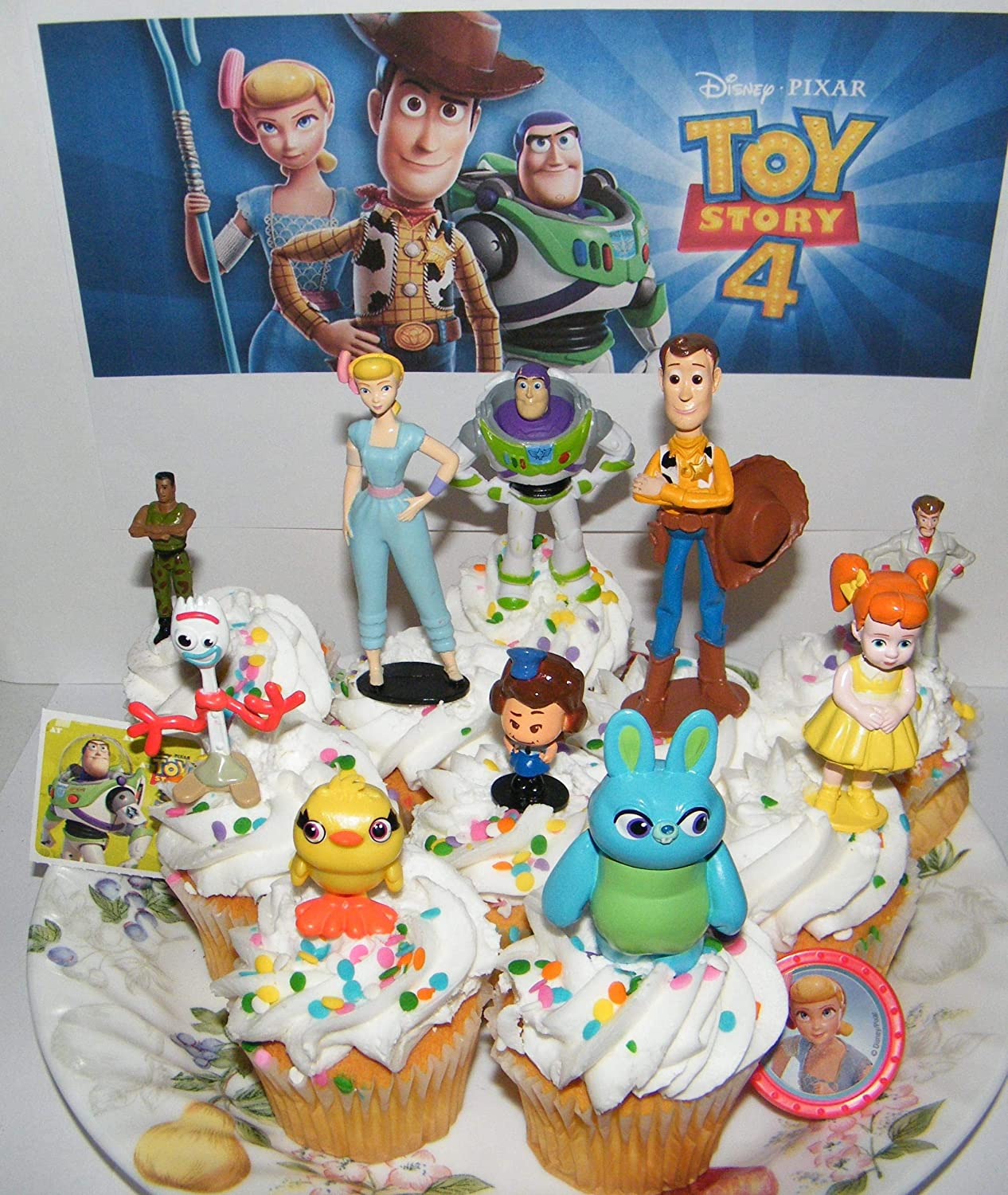Enjoyable Amazon Com Toy Story 4 Quality Cake Toppers Birthday Party Favors Personalised Birthday Cards Rectzonderlifede
