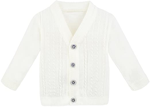 ce9aaa82b Amazon.com  Lilax Baby Boy Cable-Knit Basic Knit Cardigan Sweater ...