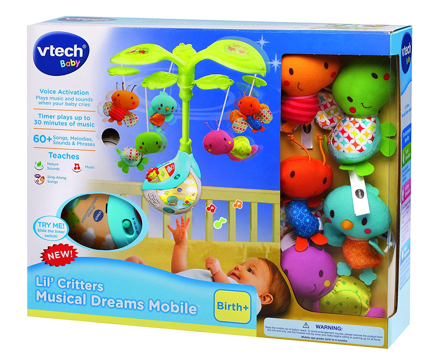 Best crib toys your baby - Amazon Com Vtech Baby Lil Critters Musical Dreams Mobile Toys Games
