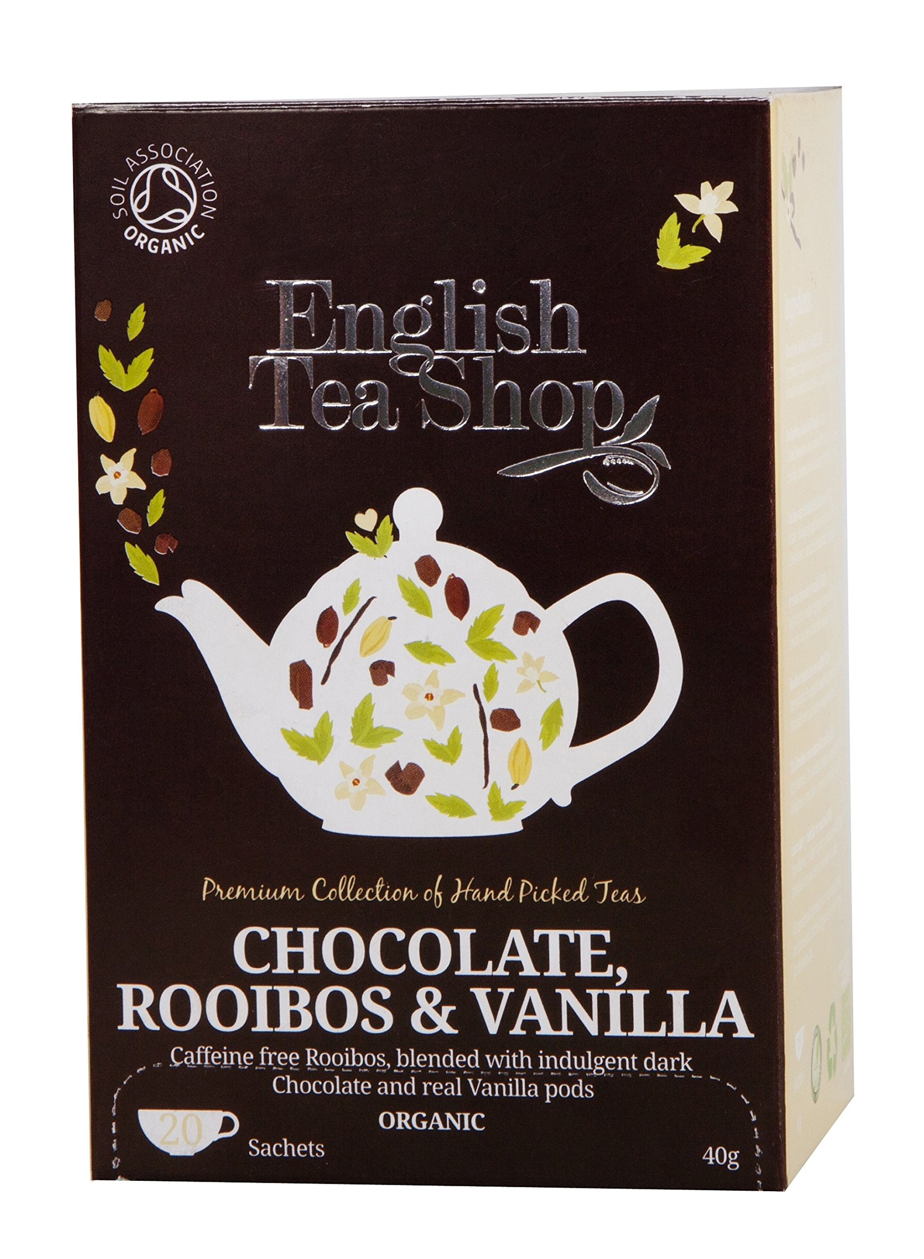 English Tea Shop Rooibos Chocolate Vanilla Tea Bags, 40 Gram (Pack of 6) by English Tea Shop