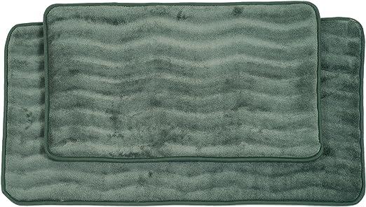 Amazon.com: Lavish Home 2 Piece Memory Foam Bath Mat Set, Green