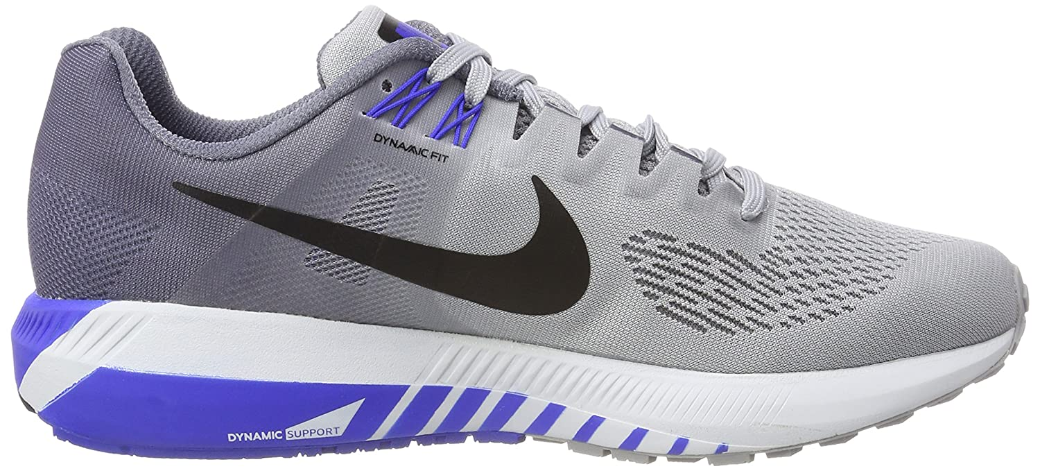 e874e7c35782 Nike Men s Air Zoom Structure 21 Running Shoe Wolf Grey Black-Light  Carbon-Hyper Royal 11.0  Buy Online at Low Prices in India - Amazon.in