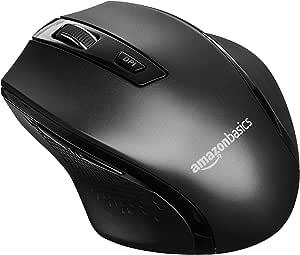 AmazonBasics Ergonomic Wireless PC Mouse - DPI adjustable - Black