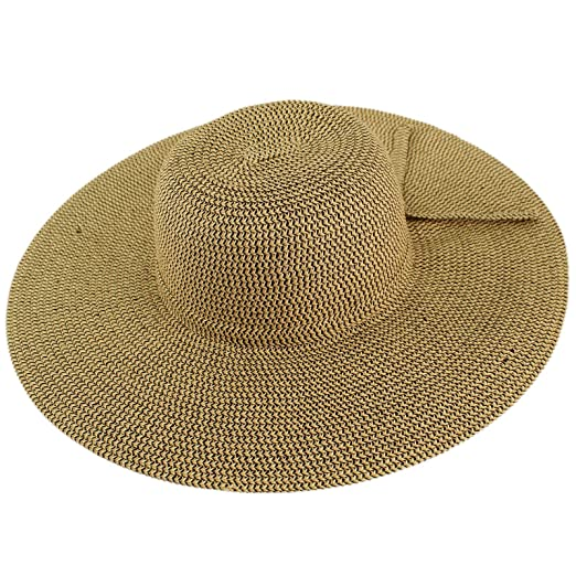 aeefa538e17 David   Young Women s Marled Straw Floppy Sun hat with Side tie ...